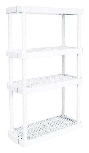 Gracious Living Adjustable 4-Shelf Medium Duty Shelving Unit by Gracious Living
