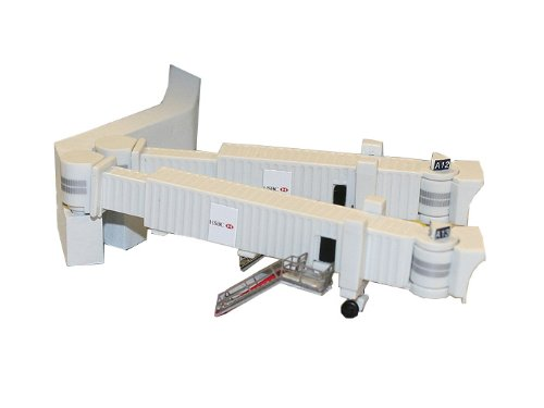 Gemini Jets Airbridge Set 2 with 3 Dual Widebody Jet Bridges and Airport Adapters, 1:400 Scale ()