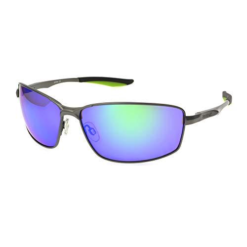 Reebok Men's Rbs 5 Gun Grn Mir No Polarization Rectangular Prescription Eyewear Frame, Dark Metal, 64 ()