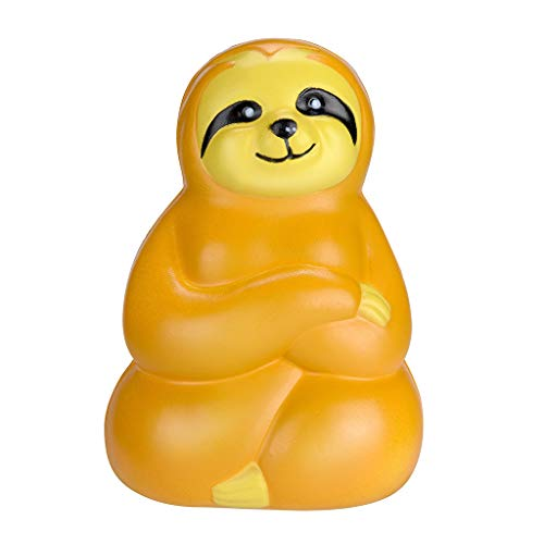 Mikilon Squishy Toy Jumbo Colossal Tree Shrew Super Soft Slow Rising Squeeze Toy Relieve Stress Toy Gift New (Yellow) ()
