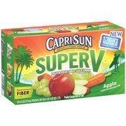 CapriSun Super V Apple Fruit & Vegetable Juice Drink, 6 oz, 10ct(Case of 2) by Capri Sun