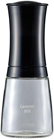 京セラ ミル 手動 150ml セラミック スパイス ペッパー 結晶塩 山椒 花椒 粗さ調節 OK ホーム&キッチン|||キッチン用品|||調理・製菓道具|||調理器具|||その他の調理器具|||ミル|||ソルトミル ブラック Kyocera CM-20-FP