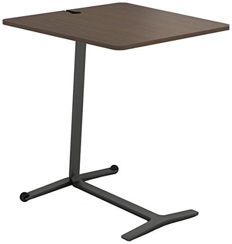 Steelcase Campfire Skate Table with Clear Walnut Finish, Midnight Metallic ()