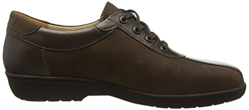 Ganter Anke, Weite G, Zapatos de Cordones Brogue para Mujer Marrón - Braun (espresso / bronce 2070)