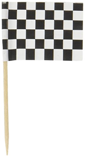 Levado 60104 50-Pack Checkered Flag Picks, 21/2-Inch]()