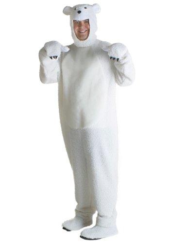 Adult Polar Bear Costume - XL (Feet Polar Fur Bear)
