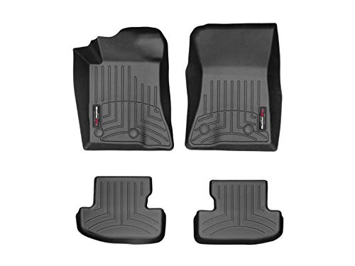 2019 Ford Mustang Shelby - WeatherTech Custom Fit FloorLiner for Mustang/Mustang Shelby GT350/GT350R - 1st & 2nd Row (Black)