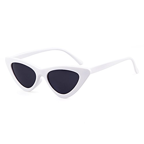 Clout Goggles Cat Eye Sunglasses Vintage Mod Style Retro Kurt Cobain Sunglasses (White& smoke, - Sunglasses Retro Cheap