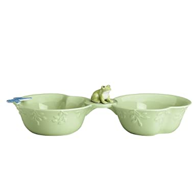 Lenox Butterfly Meadow Figurals Frog Condiment Server, 11-1/2-Inch