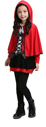 HalloweenCostumeParty Little Red Riding Hood Cape Costume For Toddler Girls (M(8)