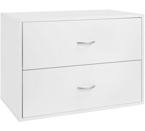 Organized Living freedomRail 2 Drawer Big OBox - White