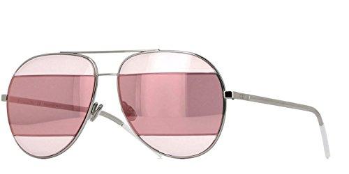 New Christian Dior SPLIT 2 010 0J Gold Grey Pink/Rose Gold avitor - Split Sunglasses Dior