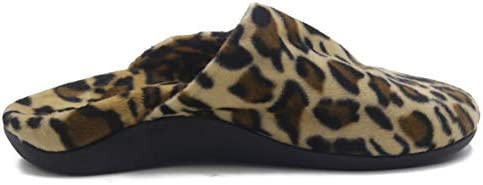 ERGOfoot Orthotic Slippers for Women Men, Walking Comfort with Arch Support Sandals, Leopard Print