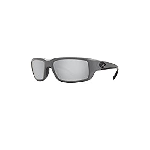 Costa Del Mar Fantail 580P Fantail, Matte Gray Silver Mirror, Silver - Costa Fantail Matte Gray