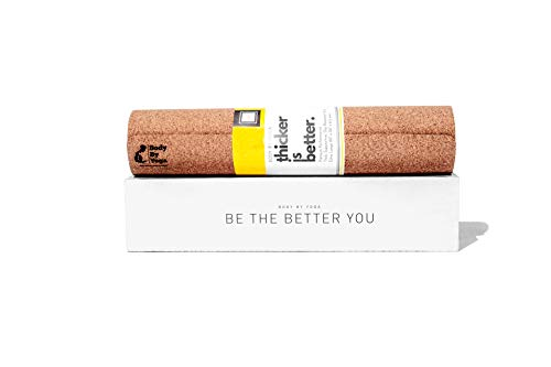 - Supportive, Thick, Non Slip Cork Yoga Mat with Just The Right Amount of Padding for Sweat, Hot Yoga, Pilates, Bikram, and General Fitness (Extra Thick 80