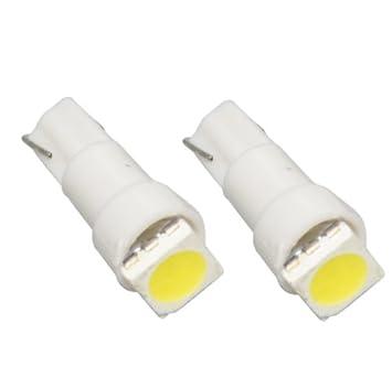 T5SW - SMD LED Lámpara Blanco T5 W2,3W T5 12V lámpara del instrumento del