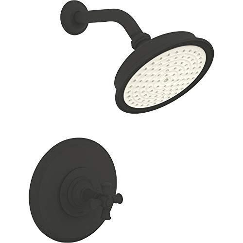 - Newport Brass 3-2404BP Aylesbury Single Handle Shower Valve Trim with Shower Hea, Flat Black