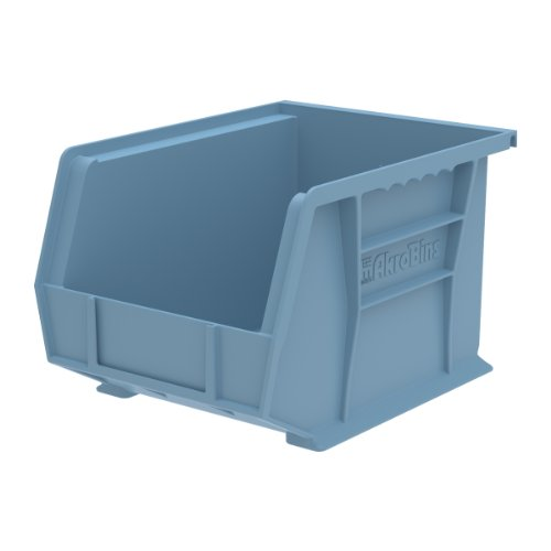 Akro-Mils 30239 11-Inch by 8-Inch by 7-Inch Plastic Storage Stacking Hanging Akro Bin, Light Blue, 6-Pack by Akro-Mils