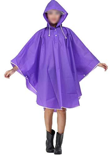 Con La Ropa 100 Lluvia Mujeres Motocicleta Gabardina Poncho Capucha Rainwear Impermeable Violett Eva De Parka Bicicleta Basic Las nzggZx
