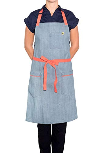 y Classic Apron - Blue Denim Color - Unisex & One Size Fits Most - Loved and Endorsed by Professional and Celebrity Chefs ()