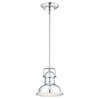 Westinghouse 63082A Boswell One-Light LED Indoor Mini Pendant, Oil Rubbed Bronze Finish with Highlights and Frosted Prismatic Lens