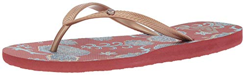 Roxy Women's Bermuda Sandal Flip Flop, Gold/Estate Blue, 9 M ()