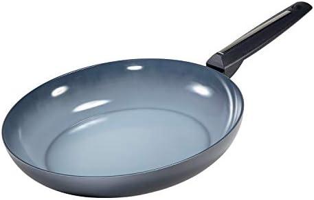 Moneta 2390132 Azul Gres 13-Inch Ceramic Frying Pan, Gradient Gray and Blue