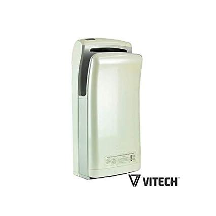 Secador de manos automático vitech de doble inyección de aire color blanco