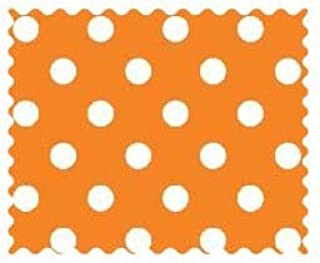 product image for SheetWorld Primary Polka Dots OrangeWoven Fabric - by The Yard