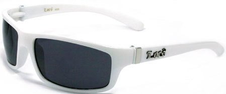 LOCS Rare White Harcore Fly Sunglasses JE5209W + Free Micro Fiber (White Ganster)