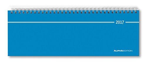 Tisch-Querkalender blau 2017 - Bürokalender / Tischkalender (28,5 x 10) - 1 Woche 2 Seiten