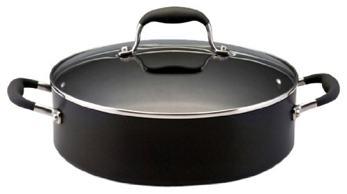 Anolon Advanced Hard Anodized Nonstick 5-1/4-Quart Covered Sauteuse