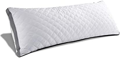 Oubonun Premium Adjustable Loft Quilted Body Pillows - Hypoallergenic Fluffy Pillow - Quality Plush Pillow - Down...