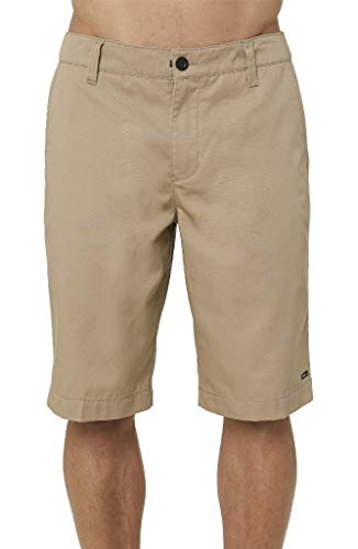 (O'Neill Men's Standard Fit Chino Walk Short, 22 Inch Outseam (Khaki/Redwood, 38))
