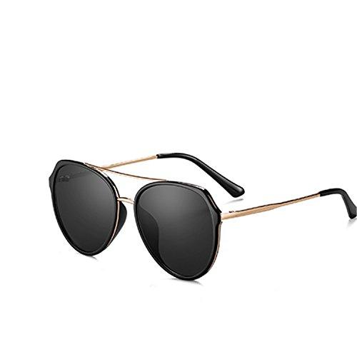 Sunglasses Women Fashion Retro Vintage Female Glasses UV400 Shades Gafas MD1825 C01 Black Smoke