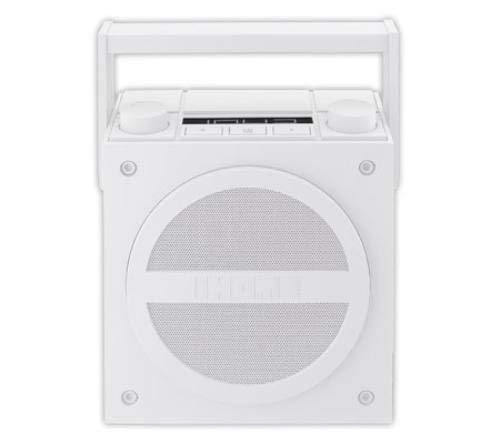 IHMIBT4WC - IHOME iBT4WC Rechargeable Bluetooth Boom Box with NFC amp; FM Radio (White) (Certified Refurbished)