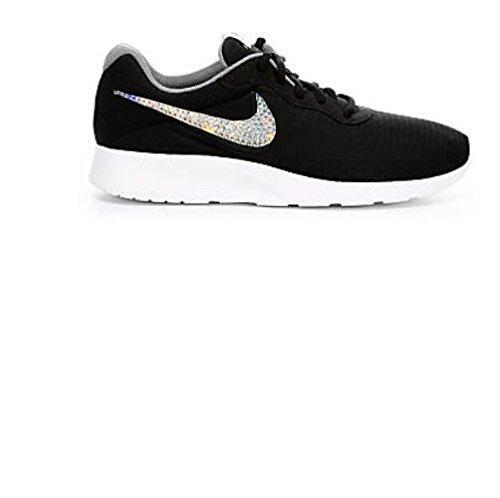 Black Glitter Sneakers Bling Nike Tanjun Shoes by Eshays