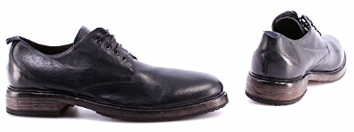 Zapatos Clásicos Hombre MOMA 58501-VD Appalosa Blu Vintage ITA Cuero Azul Nuevo