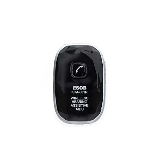 ESOB Digital Wireless Voice Amplifier with Rechargeable Battery - Bluetooth and Digital Amplification, S8Ch Fitting Function with Android APP, Compatible with Cochlear Implantation at School or Home by ESOB