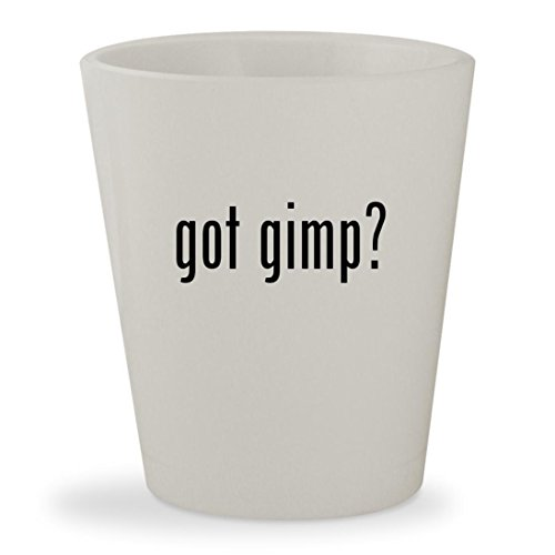 got gimp? - White Ceramic 1.5oz Shot Glass