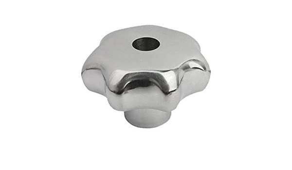 Polished Finish Kipp 06194-432A22 Stainless Steel Tapped with Counter Bore Star Grip 32 mm Diameter Style D Inch