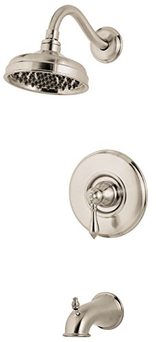 Pfister  G89-8MBD  Marielle Saxton 1-Handle Tub & Shower Trim 2.0 gpm Polished Nickel ()