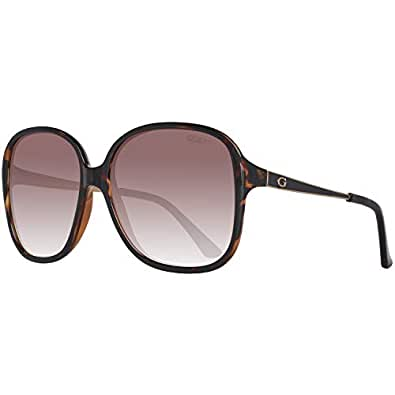 Guess Women's Fashion Sun GU 7462 52F Sunglasses, Brown, 58 mm