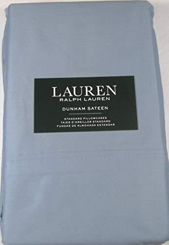 Set of 2 Ralph Lauren Dunham Sateen Standard Size Pillowcases Mist -300 Thread Count 100% Cotton-