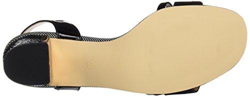 bibi lou Sandalia T.60 Tobillera, Scarpe con Cinturino Donna Rosso (Negro 001)