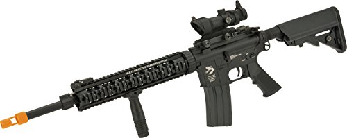 (Evike - G&P Hybrid Full Size DMR Custom Airsoft AEG Rifle with Free Float Rail and Adjustable Stock)