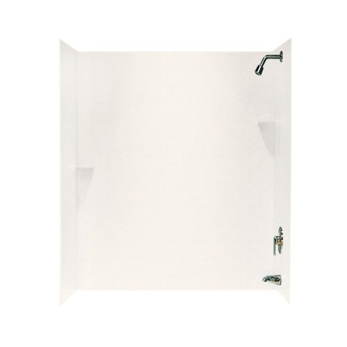 (Swan SS00723.059 Solid Surface Glue-Up 3 Panel Bathtub Wall Kit, 30-in L X 60-in H X 72-in H, Tahiti Ivory)