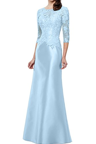 Schmaler Figurbetont Schnitt mia Promkleider Spitze Blau La Champagner Brautmutterkleider Abendkleider Himmel Etuikleider Lang Braut vZPwqTz