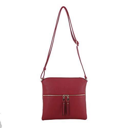 Isabelle Simple Medium Crossbody Bag for Women (Red)