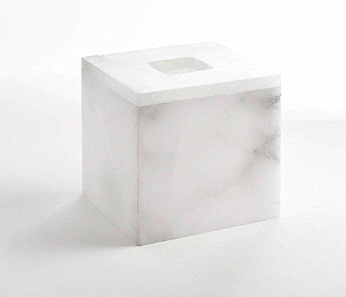 (Alabaster Tissue Box Cover,)